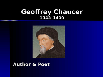 The Middle Ages - Key Figures - Geoffrey Chaucer