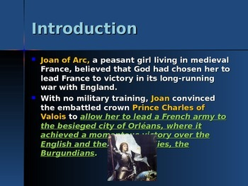 The Middle Ages - Key Figures - Joan of Arc