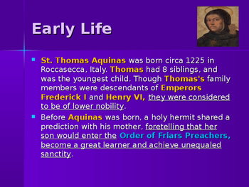 The Middle Ages - Key Figures - St. Thomas Aquinas