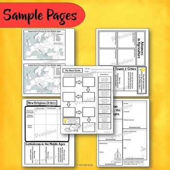 The Middle Ages & Medieval Times Interactive Notebook Unit INB