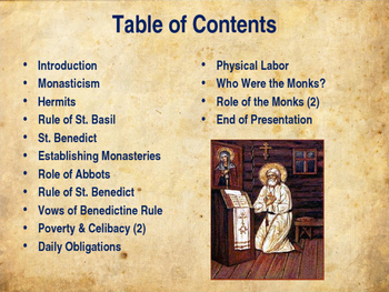 The Middle Ages - Monasticism