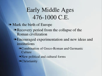 The Middle Ages PPT