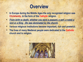 The Middle Ages - Religion & The Church
