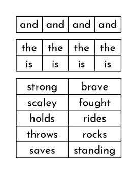 The Middle Ages - Sentence Building Cards with Grammar Symbols