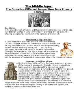 The Middle Ages: The Crusades- Different Perspectives from Primary Sources