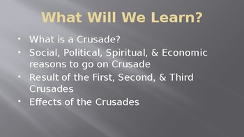 The Middle Ages The Crusades PowerPoint Lecture