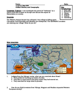 Day 037_The Middle Ages - The Dark Ages - Lesson Handout