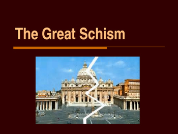 The Middle Ages - The Great Schism of 1054