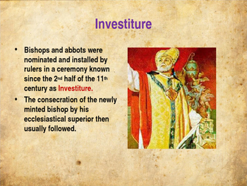 The Middle Ages - The Investiture Controversy