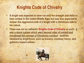 What is the code of chivalry