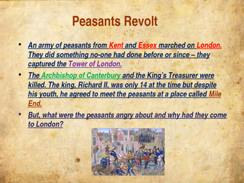 The Middle Ages - The Peasants Revolt
