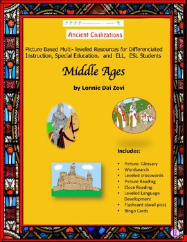 The Middle Ages Unit in Pictures for Special Ed., ELL, ESL Students in Pictures