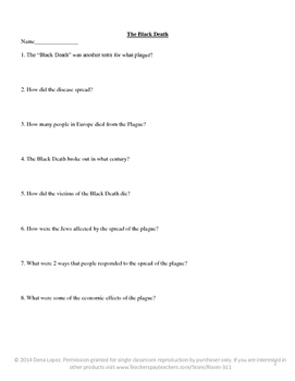 The Middle Ages Worksheets
