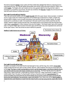 The Middle Ages and Feudalism Supplemental Reading