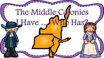 The Middle Colonies I Have ... Who Has Game