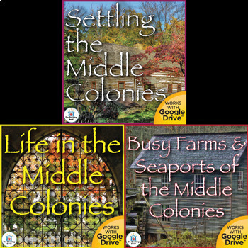 The Middle Colonies Interactive Notebook Bundle
