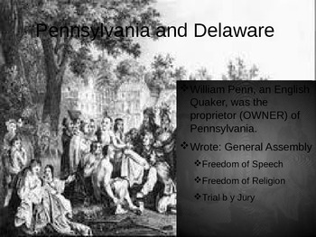 The Middle Colonies Lesson 1