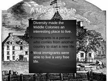 The Middle Colonies Lesson 2