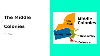 The Middle Colonies PowerPoint