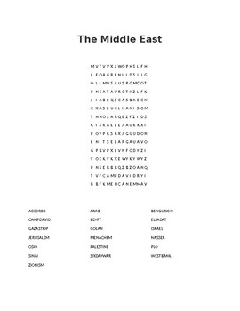 The Middle East Word Search