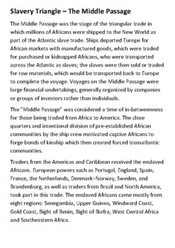 The Middle Passage Handout