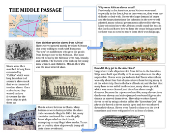 The Middle Passage Worksheet