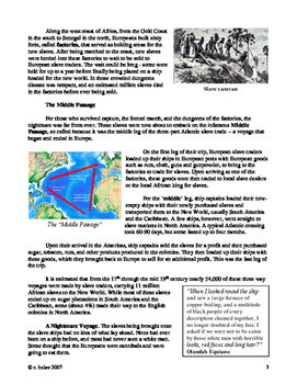 The Middle Passage - supplemental text