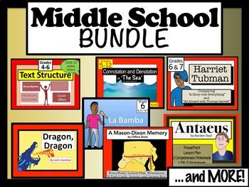 Middle School ELA Lit BUNDLE (Featuring Sh Stories, Nonfic and Txt Struct)