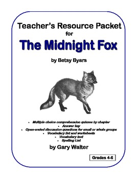the midnight fox resource packet by gary walter tpt rh teacherspayteachers com The Midnight Fox Lesson Plans Midnight Fox Art