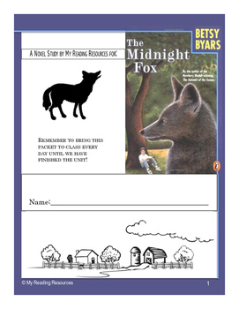 The Midnight Fox by Betsy Byars Literature Study Guide