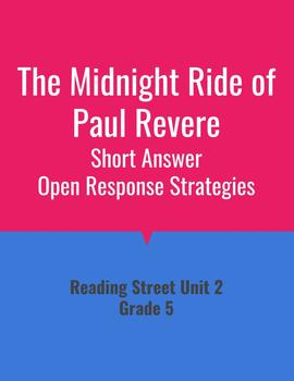 The Midnight Ride of Paul Revere Open Response Strategies (Reading Street 2011)