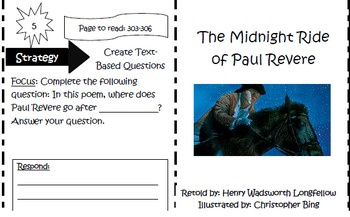 The Midnight Ride of Paul Revere Trifold Reading Street Unit 2 5th Grade