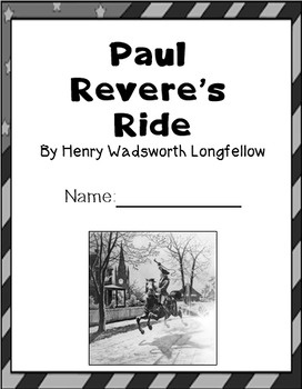 The Midnight Ride of Paul Revere; mini unit; PRINTABLES; zip file; powerpoint