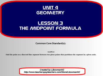 The Midpoint Formula (Math 1)