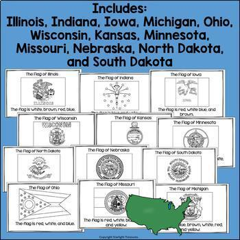 The Midwest United States Mini Book Bundle- Illinois, Iowa, Michigan, Wisconsin