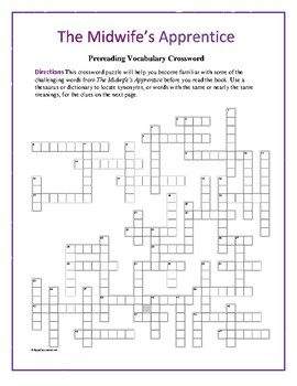 The Midwife's Apprentice: Synonym/Antonym Crossword—Use with Bookmarks Plus!