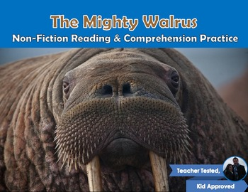 The Mighty Walrus: Nonfiction Reading, Comprehension, and Craftivity pack!