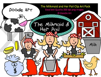 The Milkmaid and Her Pail Clipart Pack