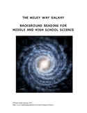 The Milky Way Galaxy Student Background Reading