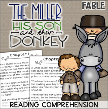 The Miller, His Son, and Their Donkey Reading Comprehension - Aesop's Fables