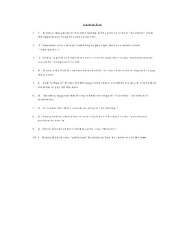 The Million Pound Bank Note Vocabulary Quiz Worksheet