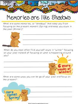 The Mindful Groundhog: Mindfulness Social Story Poem & Worksheets