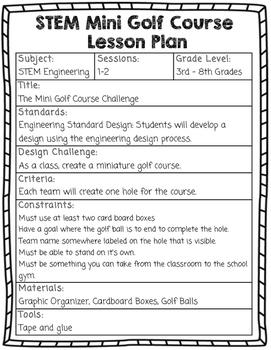 The Miniature Golf Course STEM Project