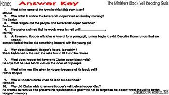 The Minister's Black Veil: Reading Quiz