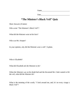 the ministers black veil analysis
