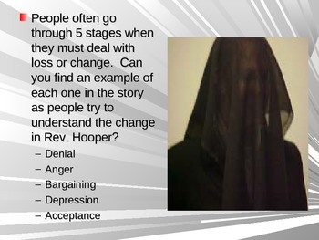 """""""The Minister's Black Veil"""" by Nathaniel Hawthorne Discussion Powerpoint"""