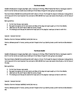 The Minute Hamlet (A Wrap-Up Activity)