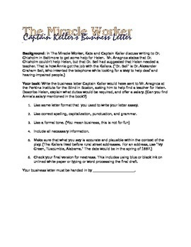 The Miracle Worker Business Letter