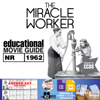 The Miracle Worker Movie Guide (Helen Keller Story) Worksheet (NR - 1962)