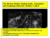 The Miracle Worker Reading Guide, Assessment, and Vocabula